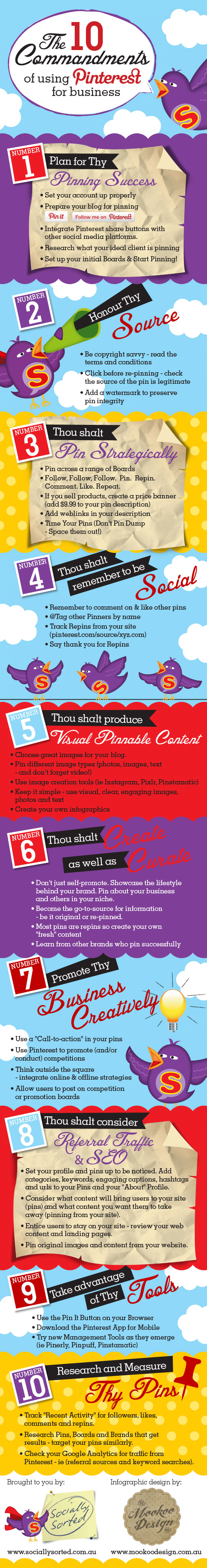 The 10 Commandments Of Using Pinterest For Business [Infographic]