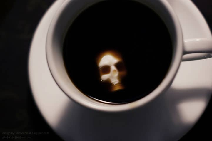 Sugar Cubes Carved Into A Skull & Bones To Make Your Coffee Sweeter