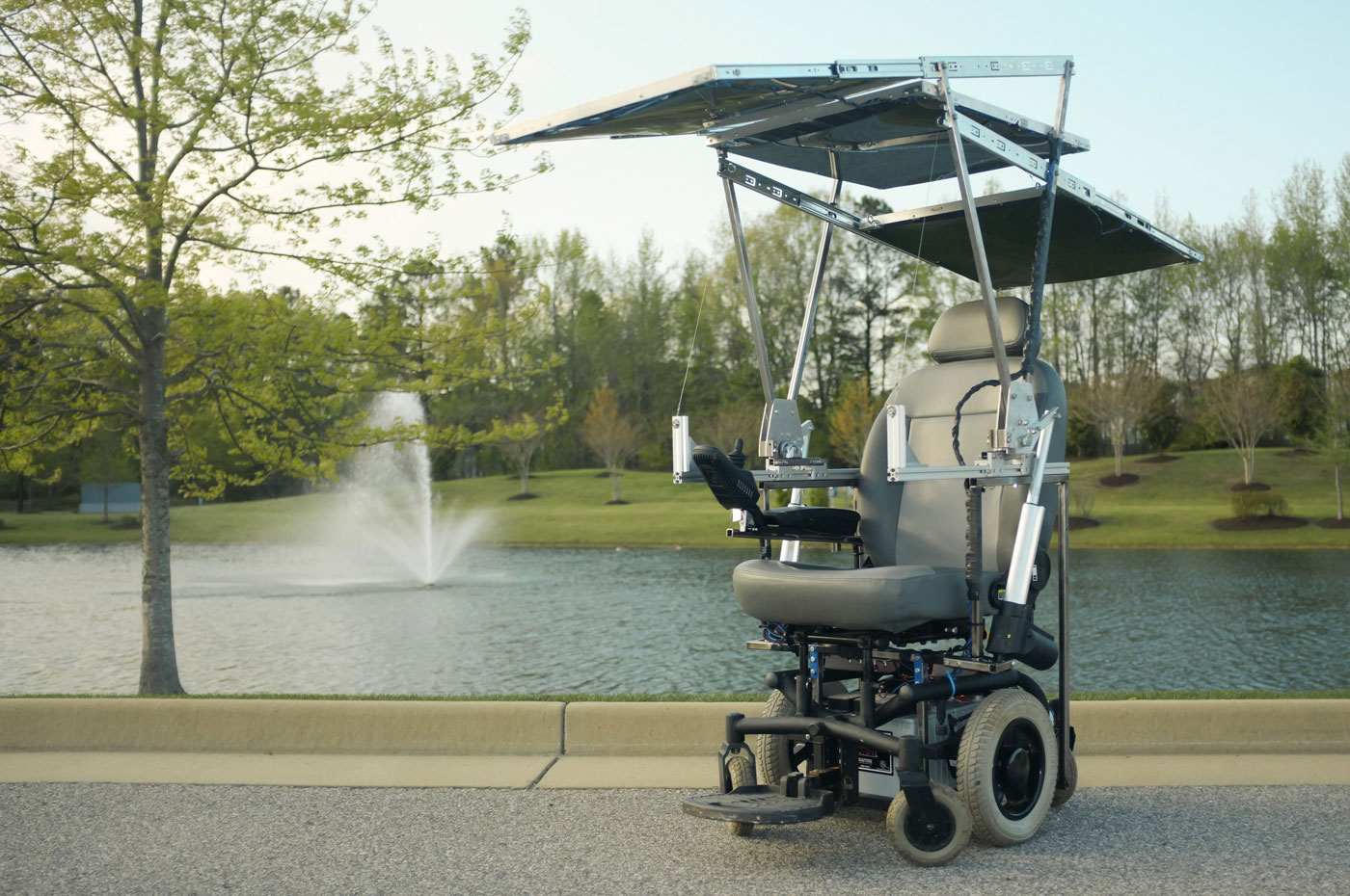 Solar Powered Wheelchair Design Complete With Smartphone Charger