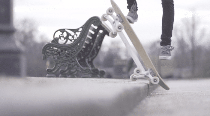 New Skateboard Concept Uses 8 Wheels To Take On Stairs
