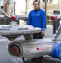 Trekkie Builds Geeky Soapbox Starship Enterprise Racer In His Backyard