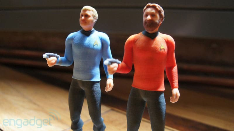 3D Printed Star Trek Figures Personalized With Your Head