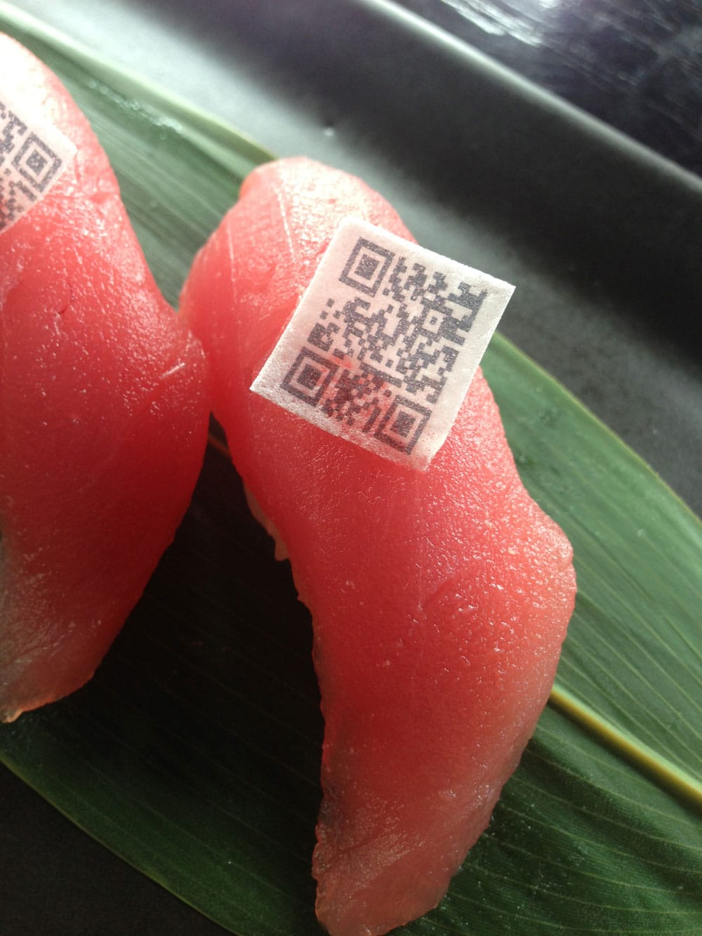 Interactive Food: High Tech Sushi With Edible QR Codes On Top