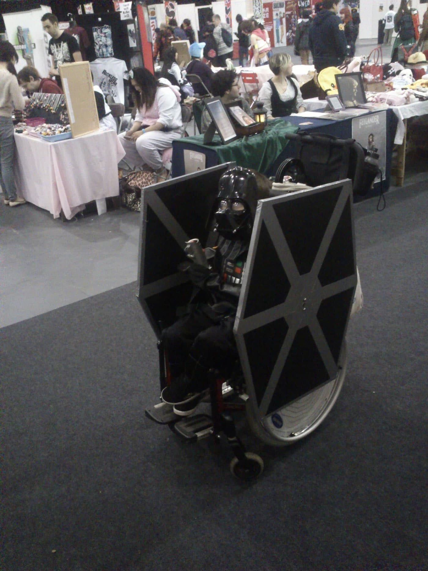 This Darth Vader TIE Fighter Wheelchair Kid Will Melt Your Geeky Heart