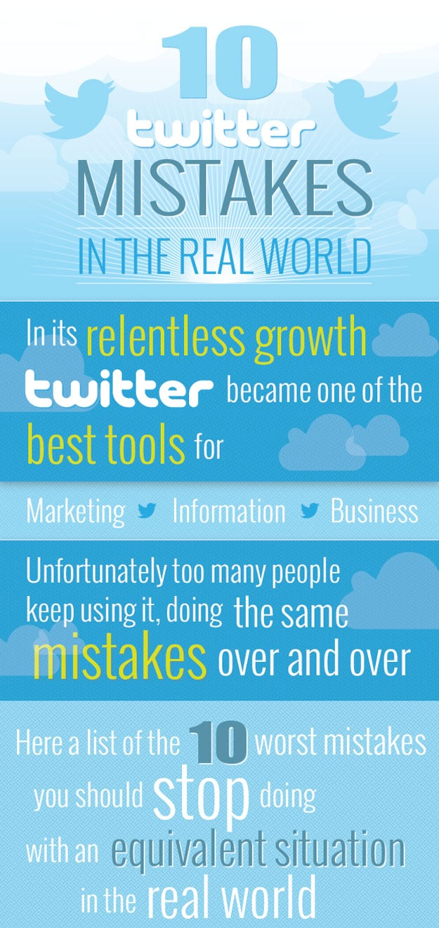 10 Twitter Mistakes That Are Even More Annoying IRL [Infographic]