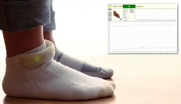Wearable Computer Socks For Fitness Techies Who Want Cozy Feet