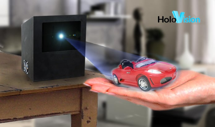 Holovision: Life Size Free-Floating Hologram In The Making [Video]