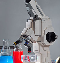 Science Geeks: Functional LEGO Microscope Inspired By Old X-Pod Sets