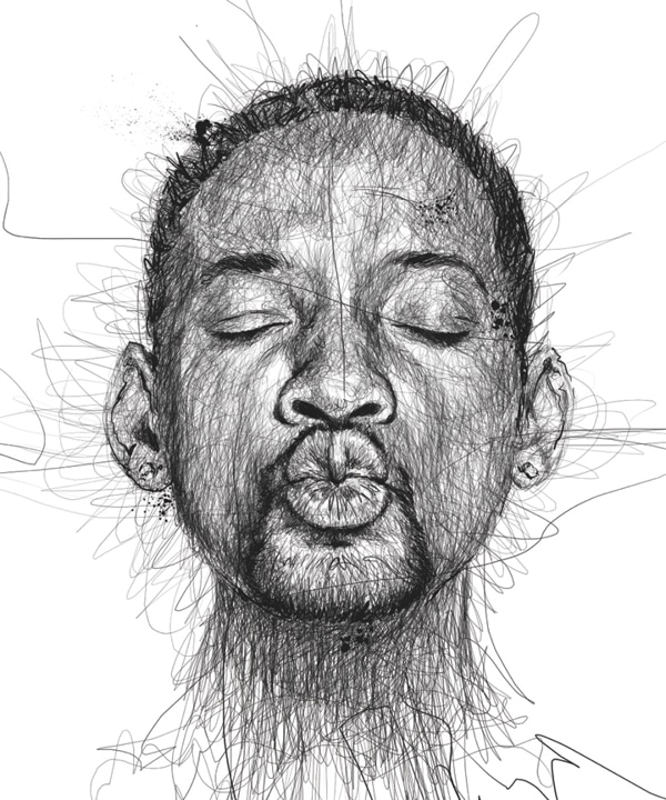 pen-stroke-faces-art