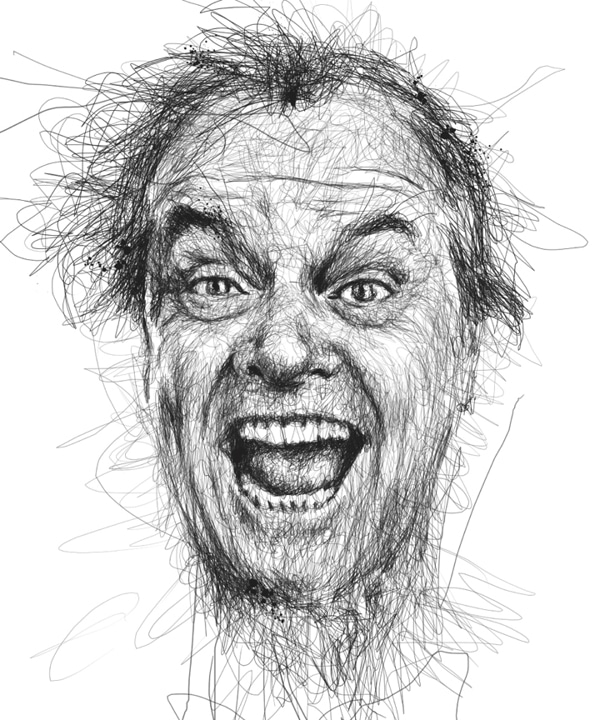 Pen Stroke Faces Famous Movie Stars Epically Drawn Bit