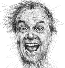 Pen Stroke Faces: Famous Movie Stars Epically Drawn