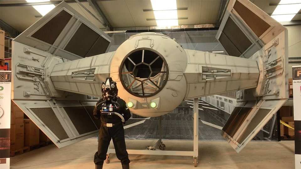 Team Of Fans Build Very Realistic Half-Scale Tie Fighter Replica