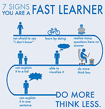 7 Ways To Know That You Are A Fast Learner [Chart]