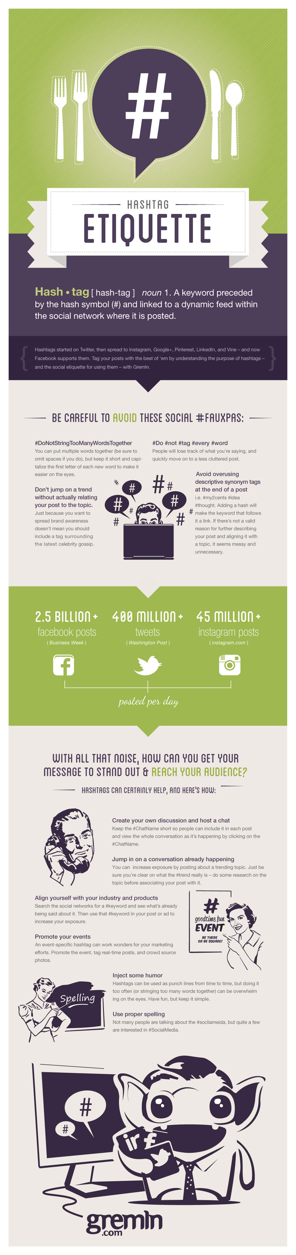 Mind Your Manners: Social Media Hashtag Etiquette [Infographic]