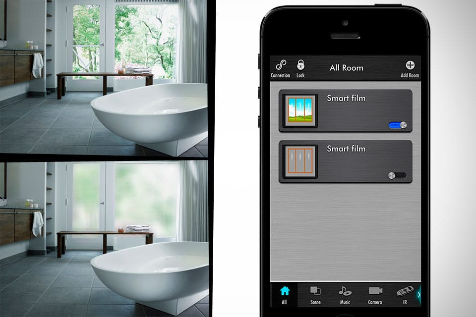 Smartphone Controlled Wi-Fi Digital Window Shades Save Energy
