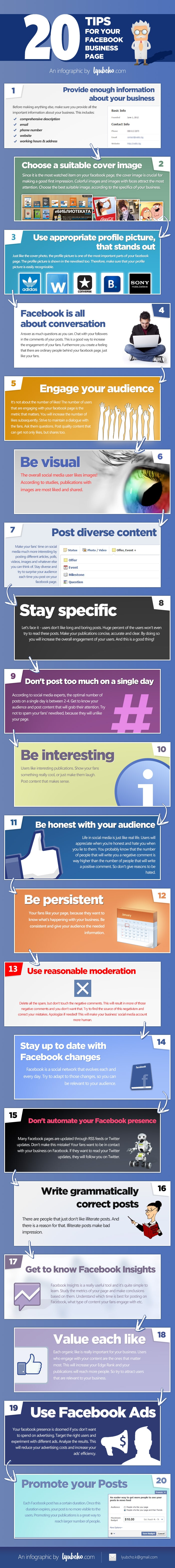 20 Vital Success Tips For Your Facebook Business Page [Infographic]