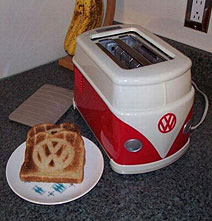 Rare VW Bus Toaster And Toast For Your Next Hippie Inspired Breakfast