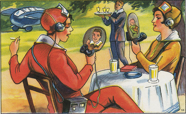 Magazine Picture From 1930 Predicts Today's Smartphone Lifestyle