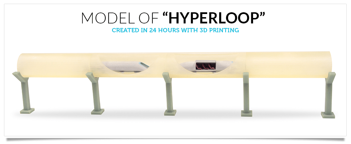 Elon Musk's Hyperloop Brought To Reality Through 3D Printing