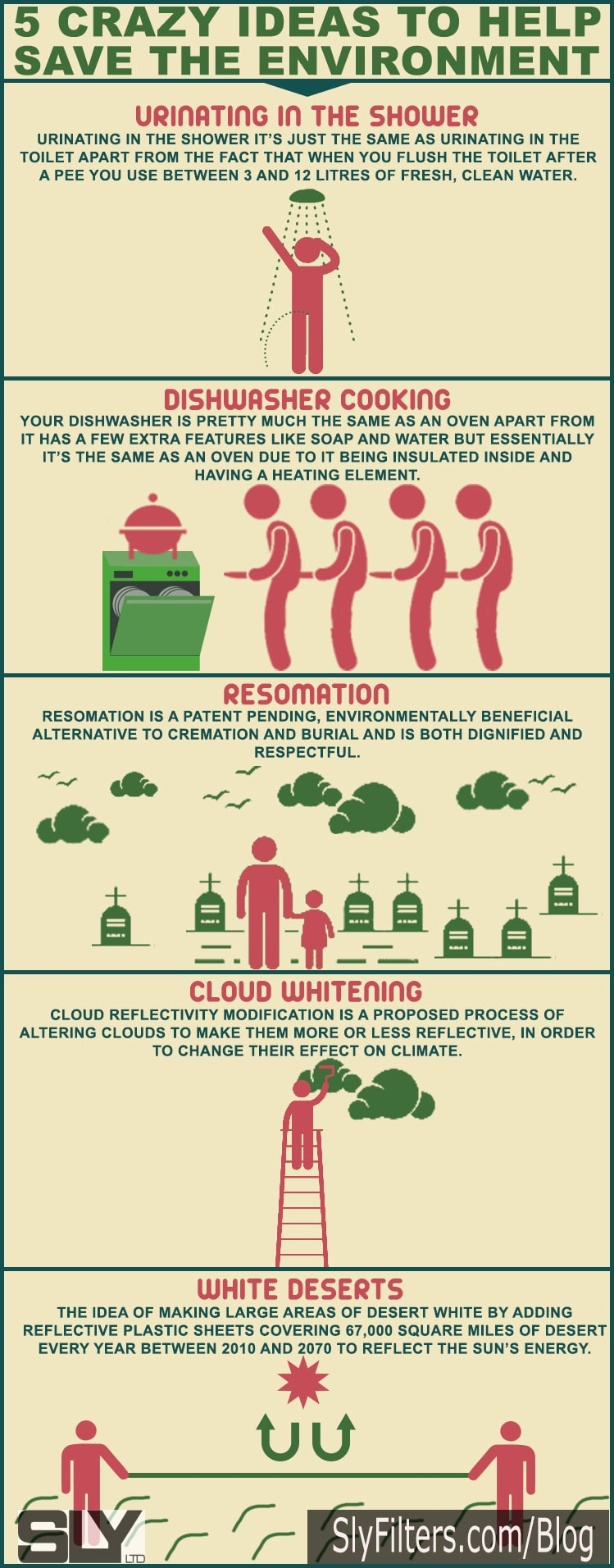 5 Crazy Ways To Be More Environmentally Friendly [Infographic]