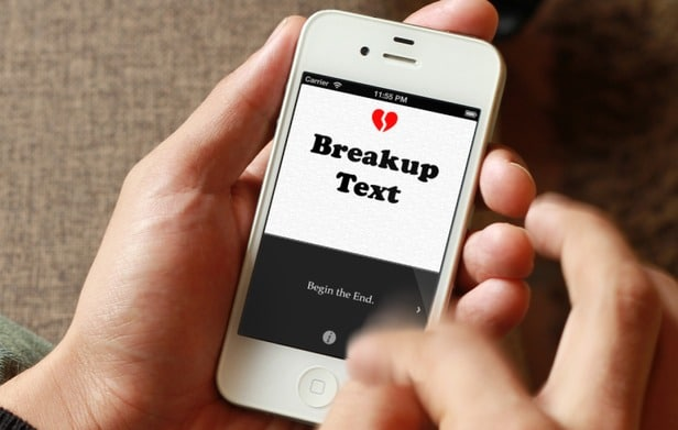 BreakUp Text: iPhone App To Help You Break Up Via Text