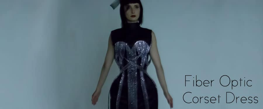 Post-Apocalyptic Fiber Optic Corset Dress Throbs To The Music