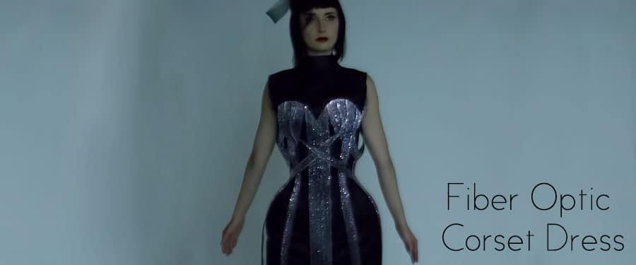 Post-Apocalyptic Fiber Optic Corset Dress Throbs To The Music
