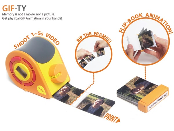 Gifty: The Automatic Flip Book Camera For Lasting Moments