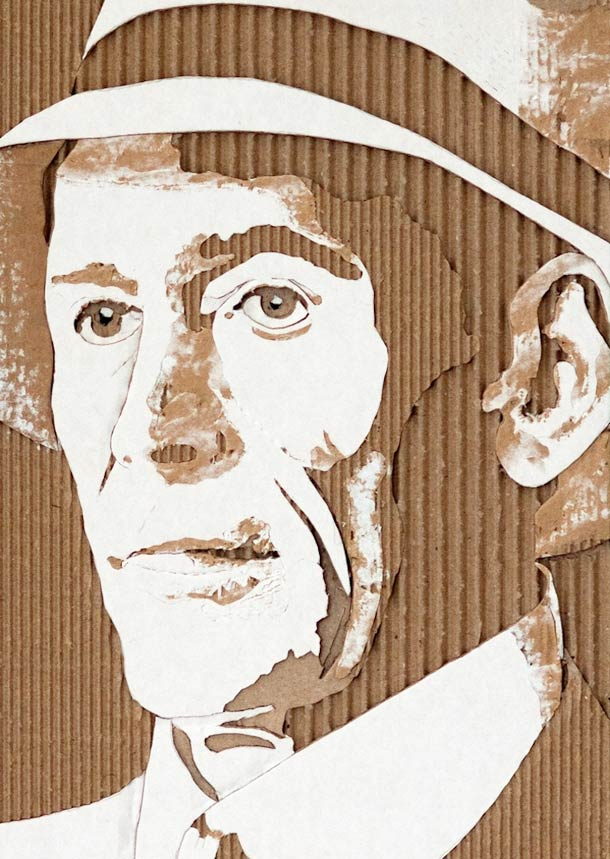 13 Whoa-tastic Cardboard Portraits Of Historic Personalities