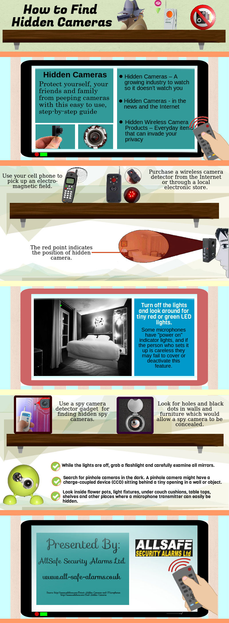 How To Find Hidden Cameras Planted In Any Room [Infographic]