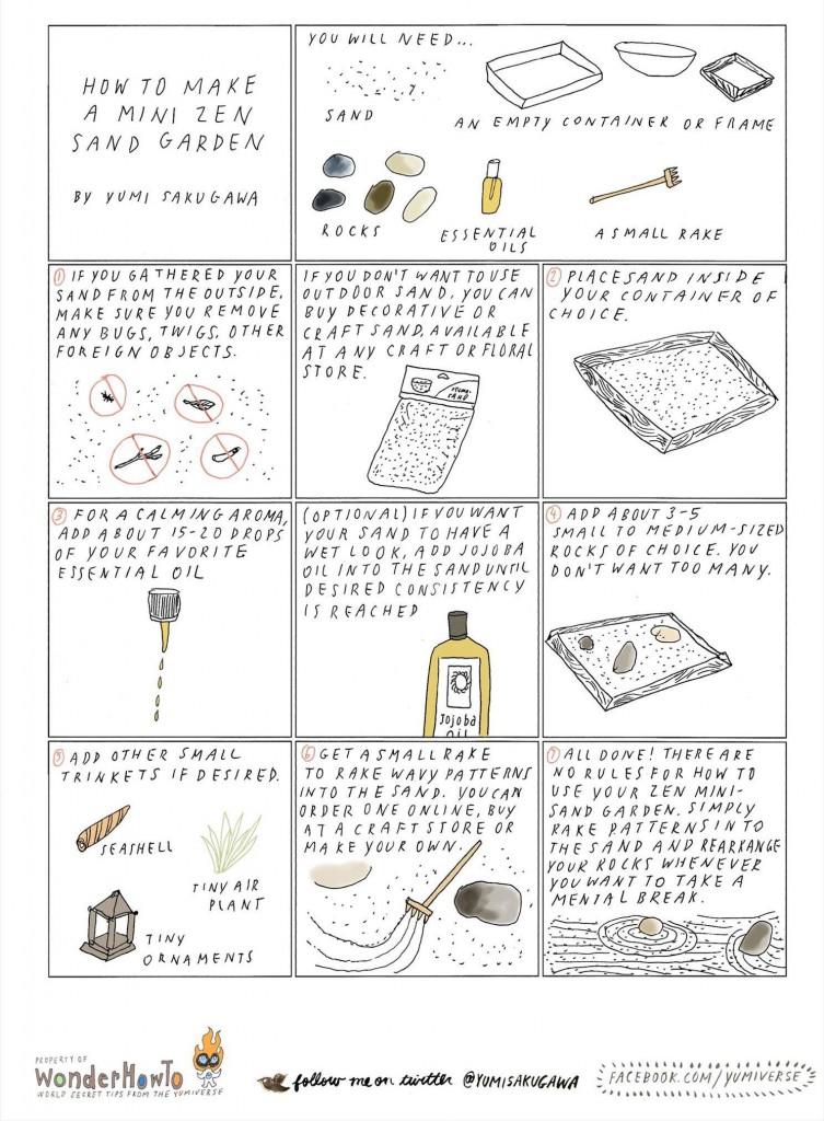 How To Make An Anti Stress Miniature Zen Garden For Your