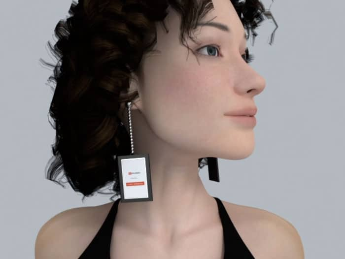 Video Earrings Have Mini-Screen So You Can Play Videos From Your Ears