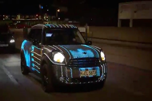 Custom MINI Skinned With 48,000 LEDs Roams The Streets Of London