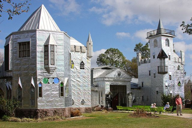 Man Builds 12,000 Square Foot Metal Scrap Dream Castle