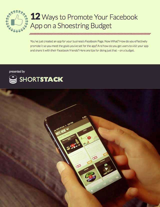 12 Ways To Promote Your Facebook App On A Shoestring Budget [PDF]