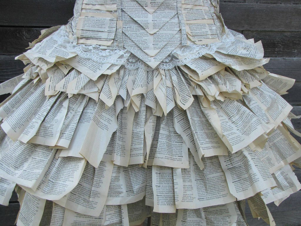 ruffle-dress-old-book-pages