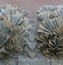 Ruffle Dress Made From Old Book Pages Is Actually Wearable & Cute