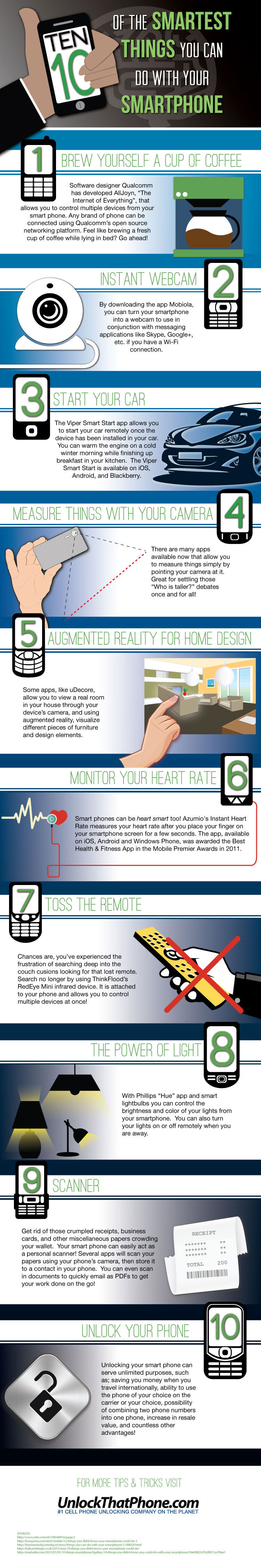 10 Really Smart Things You Can Do With Your Smartphone [Infographic]