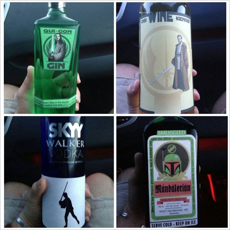 4 Star Wars Liquor Bottles Created In A Galaxy Far, Far Away