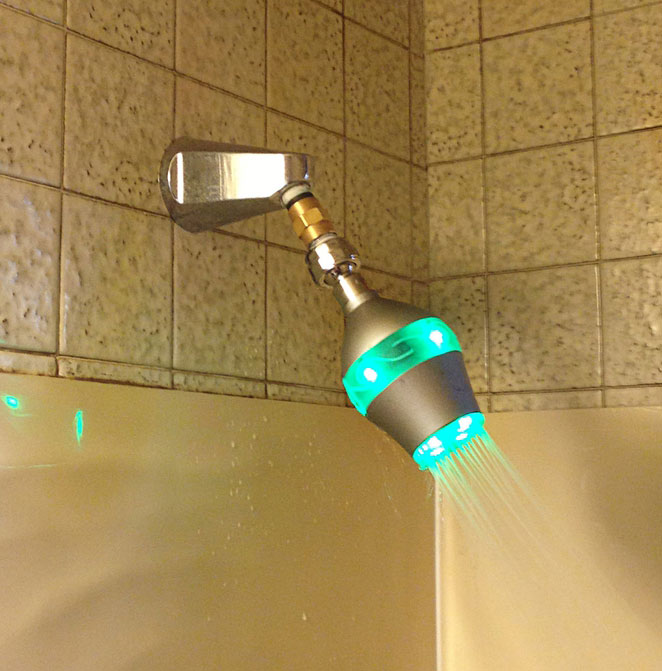 Innovative Shower Head Beautifully Reminds Us To Conserve Water