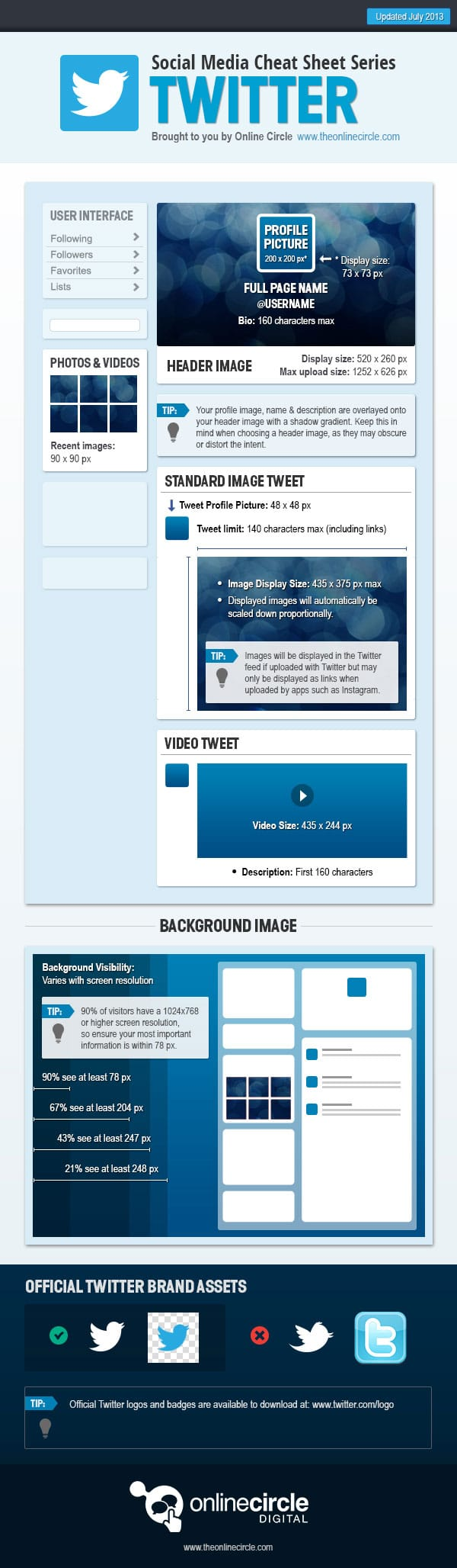 Enhance Your Twitter Profile Page: Design Guide With Sizes [Chart]