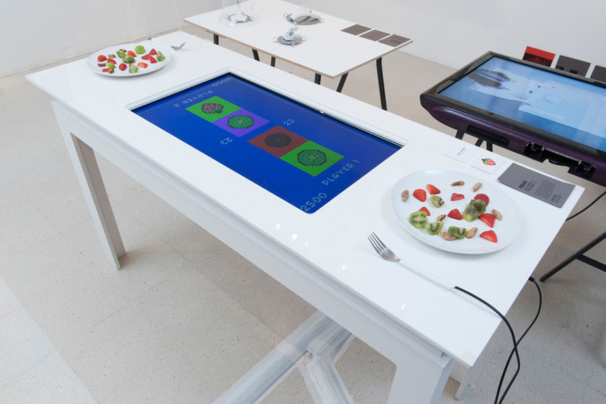 Interactive Video Game Table Turns Eating Lunch Into A Game For Two