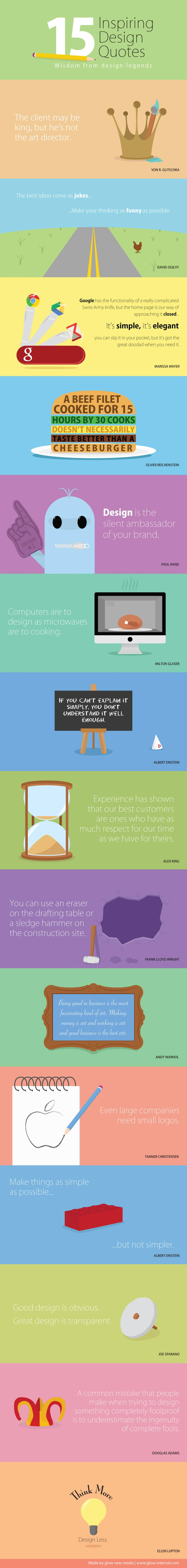 15 Inspiring Design Quotes To Get You Through The Day [Infographic]