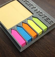 The 3D Printed Ultimate Sticky Note Holder Is A Charming Little Design