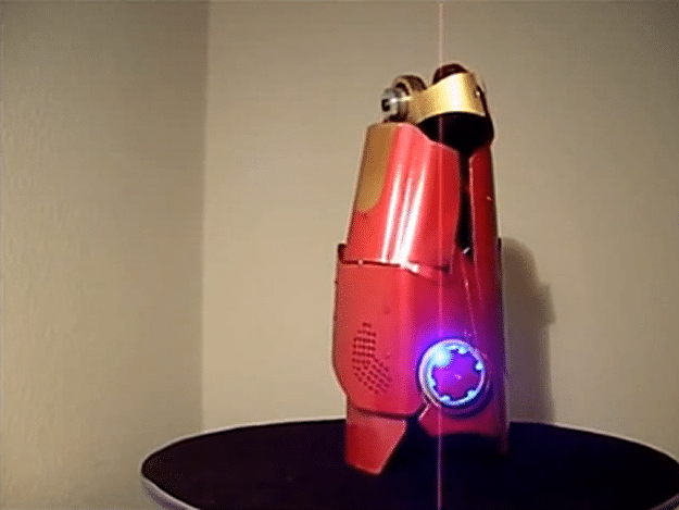 Guy Creates Fully Functional Iron Man Laser Glove