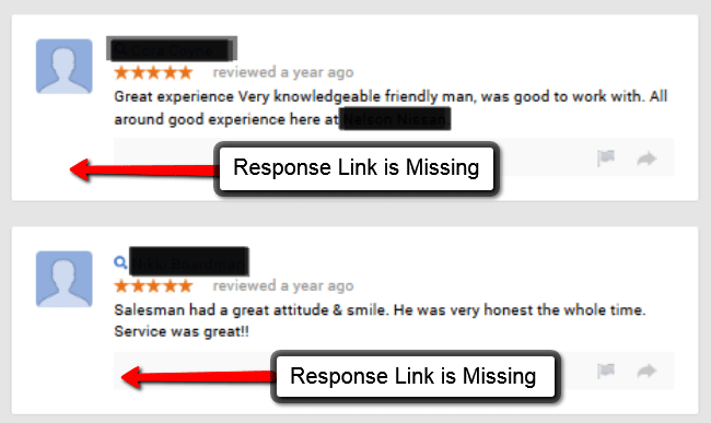Unable Respond to Google Reviews