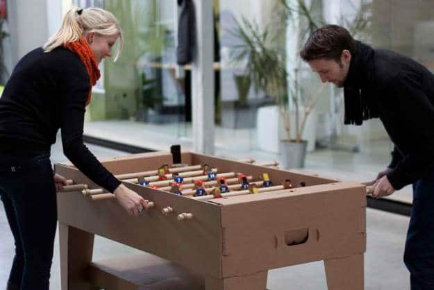Fantastic Cardboard Foosball Table Made From All Recyclable Materials
