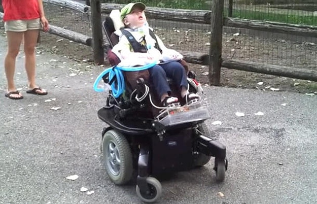 Dad Hacks Power Wheelchair So His Little Boy Can See The World