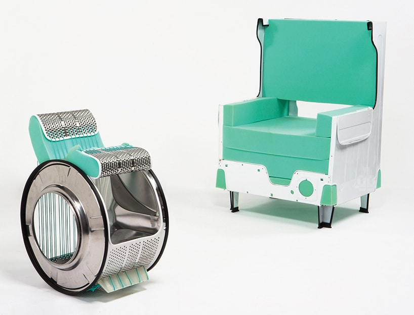 You Can Transform Old Washing Machine Into Futuristic Looking Chair