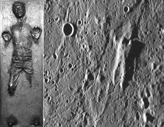 Han Solo In Carbonite Was Found On Planet Mercury (Not Surprising)